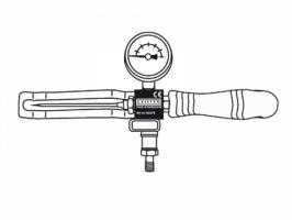 Приспособление для проверки двойного шва с иглой